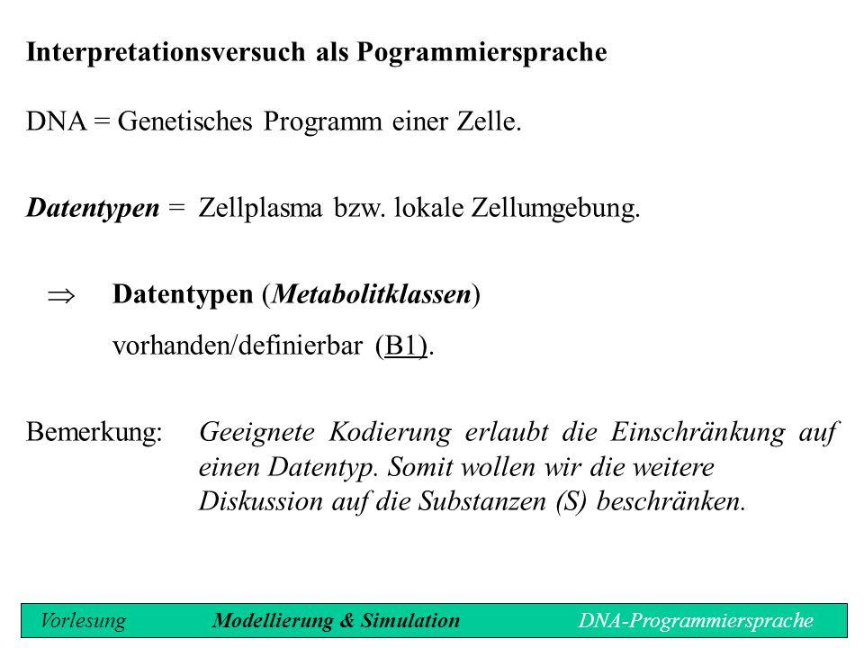 Interpretationsversuch als Pogrammiersprache