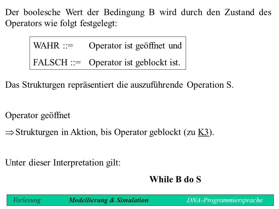 WAHR ::= Operator ist geöffnet und