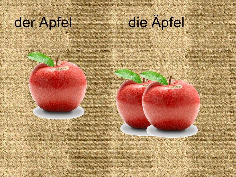 der Apfel die Äpfel