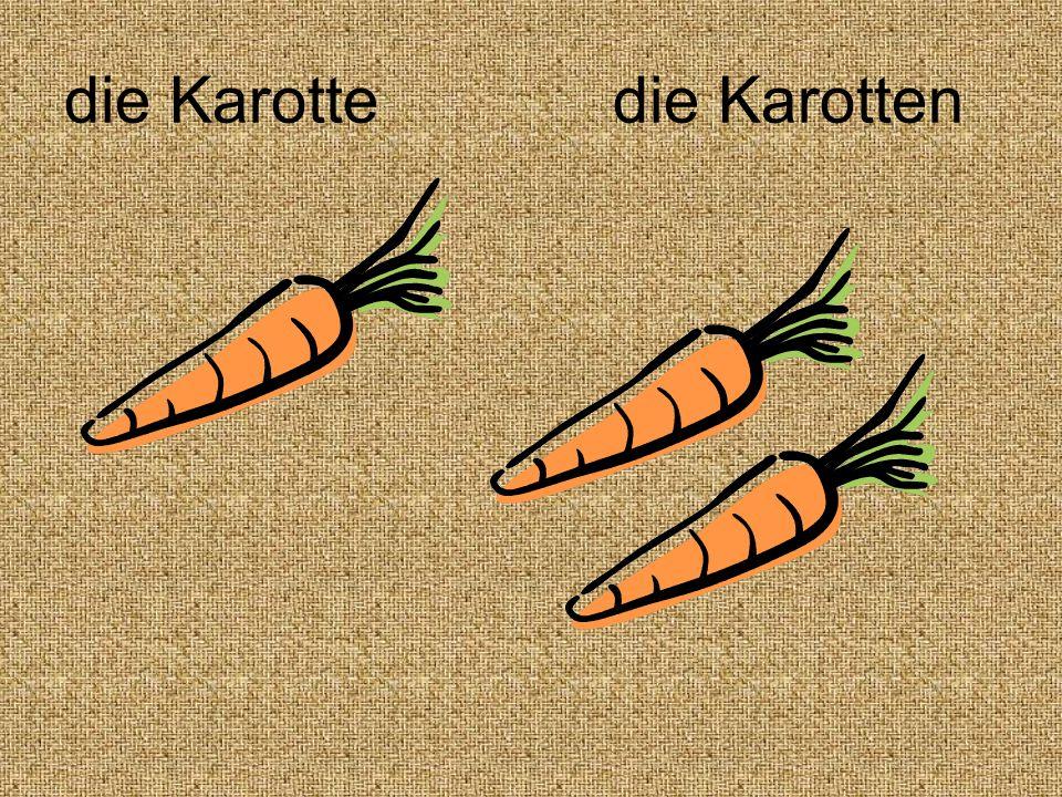 die Karotte die Karotten