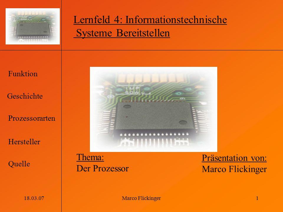 Lernfeld 4: Informationstechnische Systeme Bereitstellen