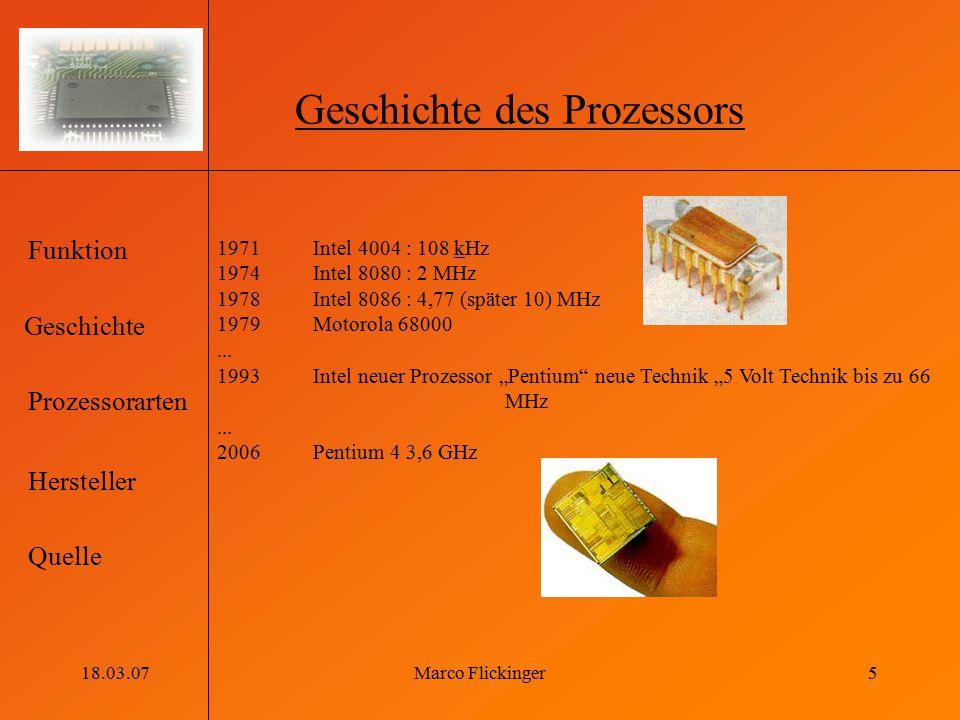 Geschichte des Prozessors