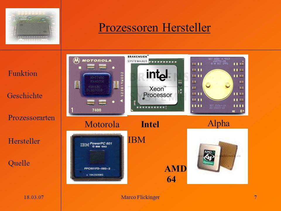 Prozessoren Hersteller