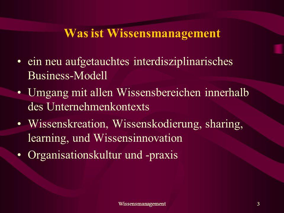 Was ist Wissensmanagement