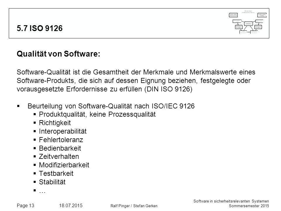Qualität von Software: