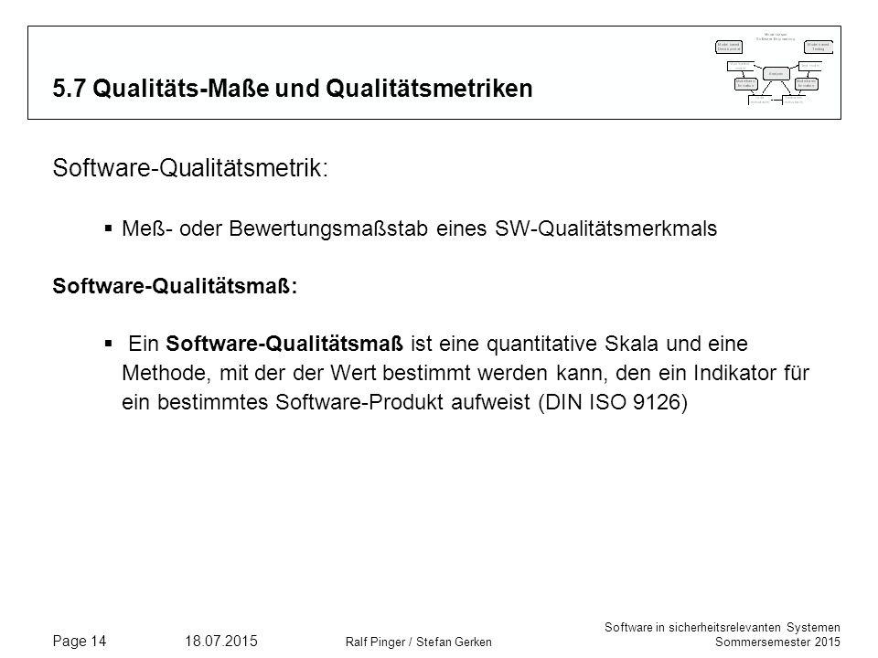 5.7 Qualitäts-Maße und Qualitätsmetriken
