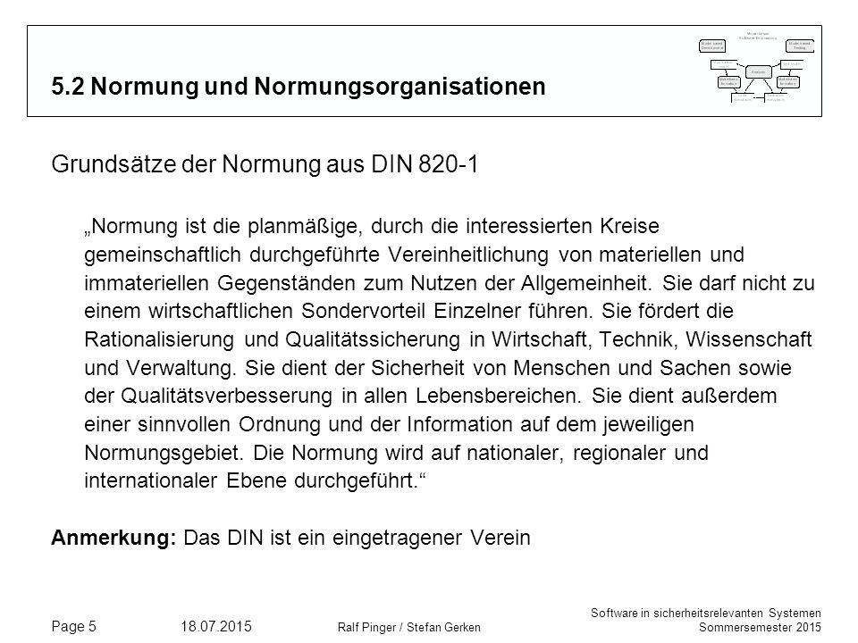 5.2 Normung und Normungsorganisationen