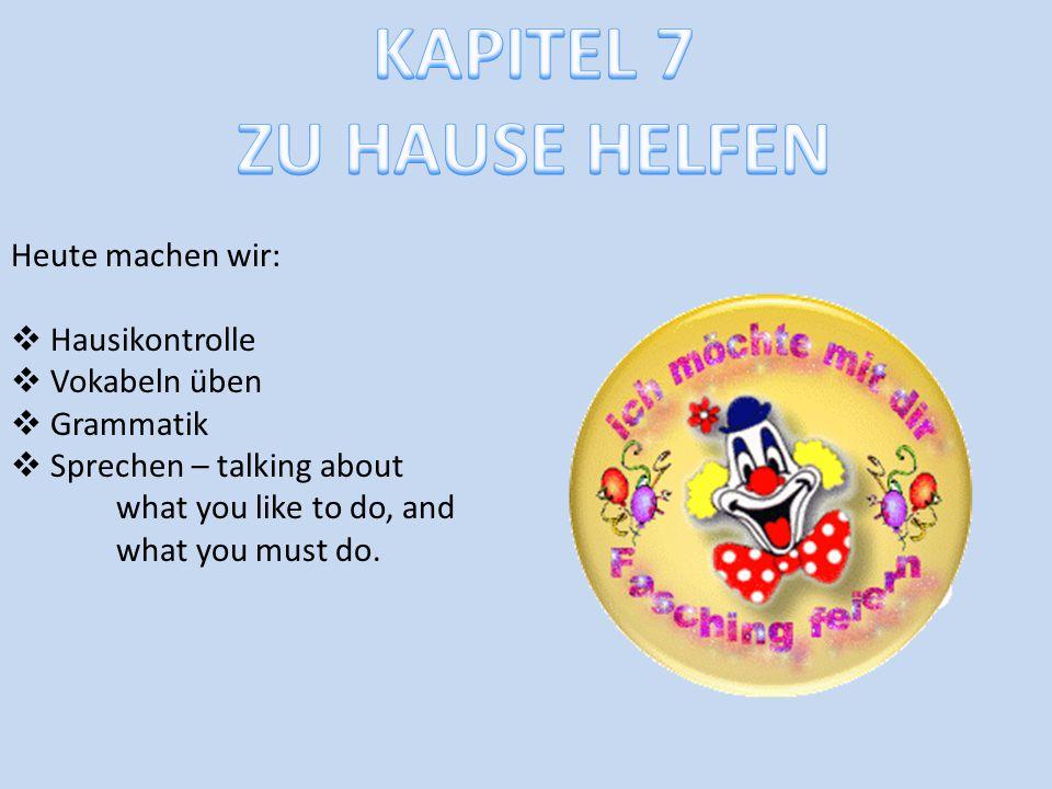 KAPITEL 7 ZU HAUSE HELFEN
