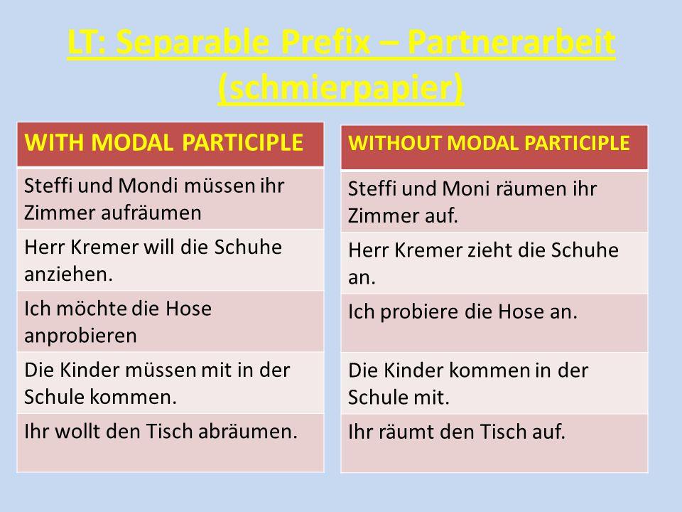 LT: Separable Prefix – Partnerarbeit (schmierpapier)
