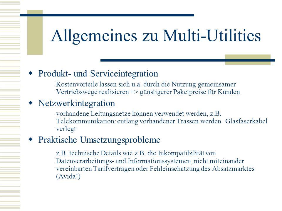 Allgemeines zu Multi-Utilities