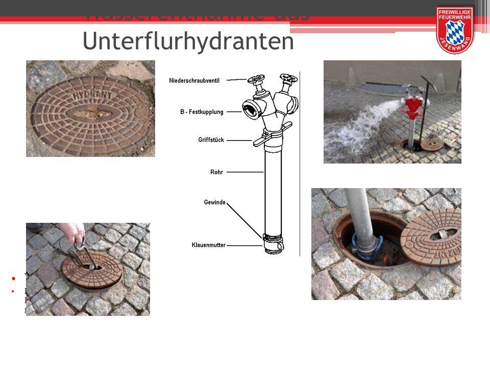 Wasserentnahme aus Unterflurhydranten