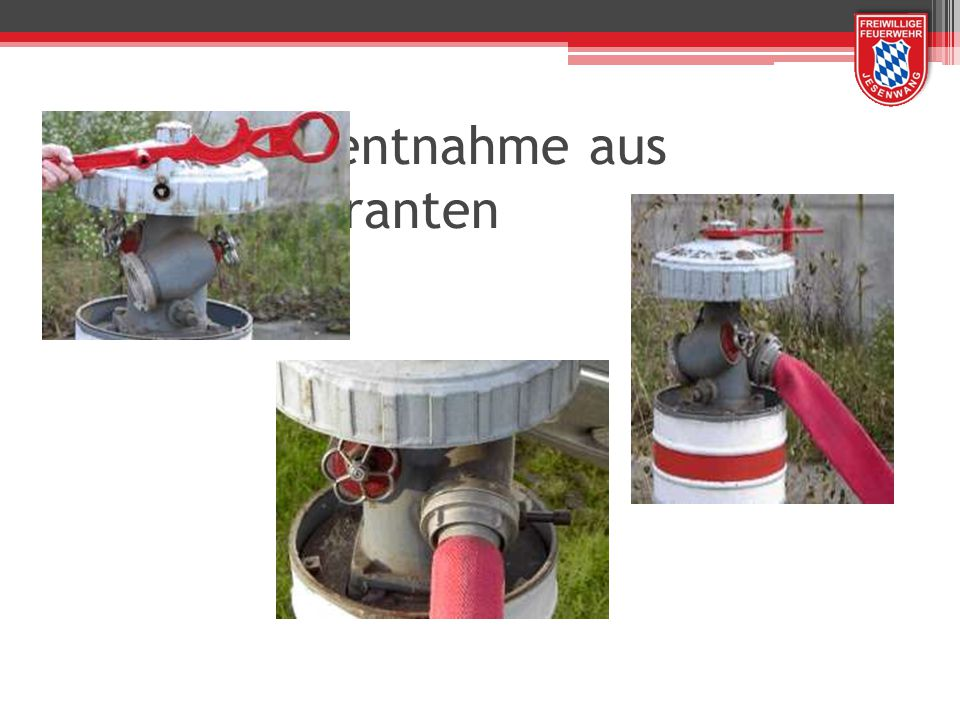 Wasserentnahme aus Überflurhydranten