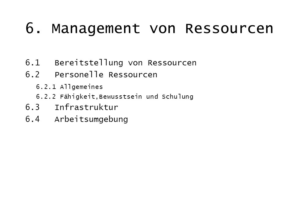 6. Management von Ressourcen