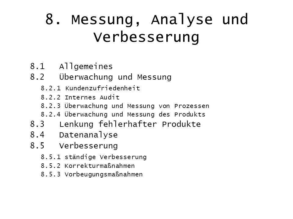 8. Messung, Analyse und Verbesserung
