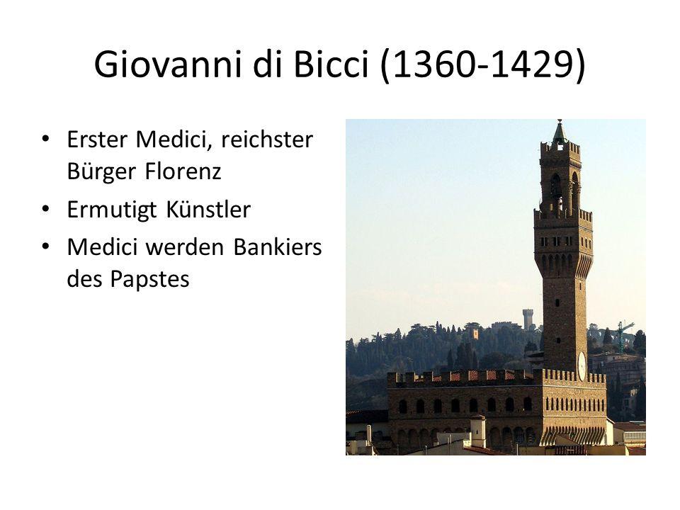 Giovanni di Bicci (1360-1429) Erster Medici, reichster Bürger Florenz