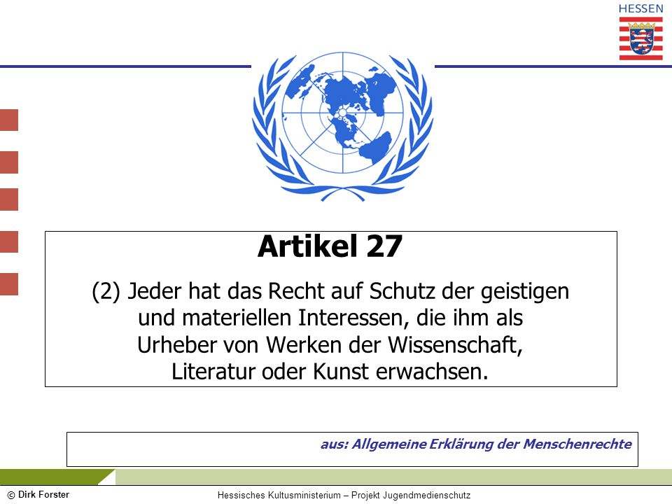 aus: Allgemeine Erklärung der Menschenrechte