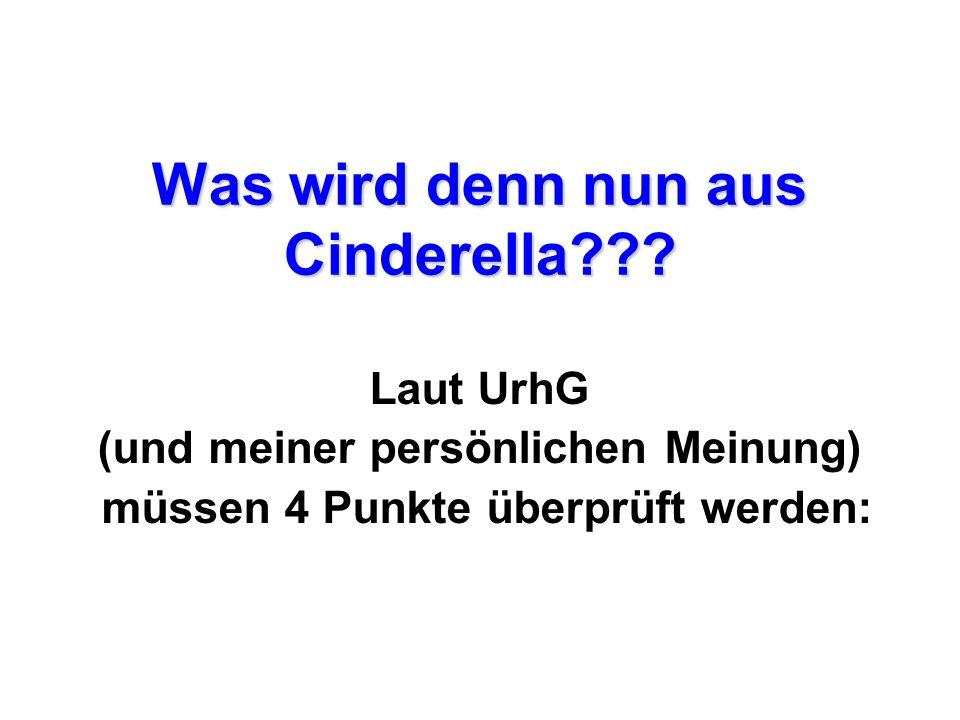 Was wird denn nun aus Cinderella