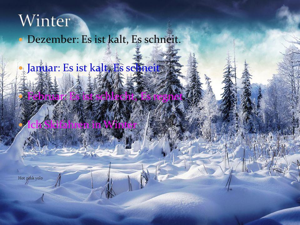Winter Dezember: Es ist kalt, Es schneit.