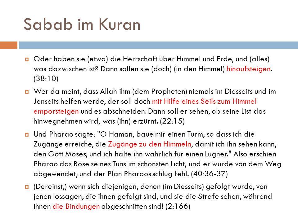Sabab im Kuran