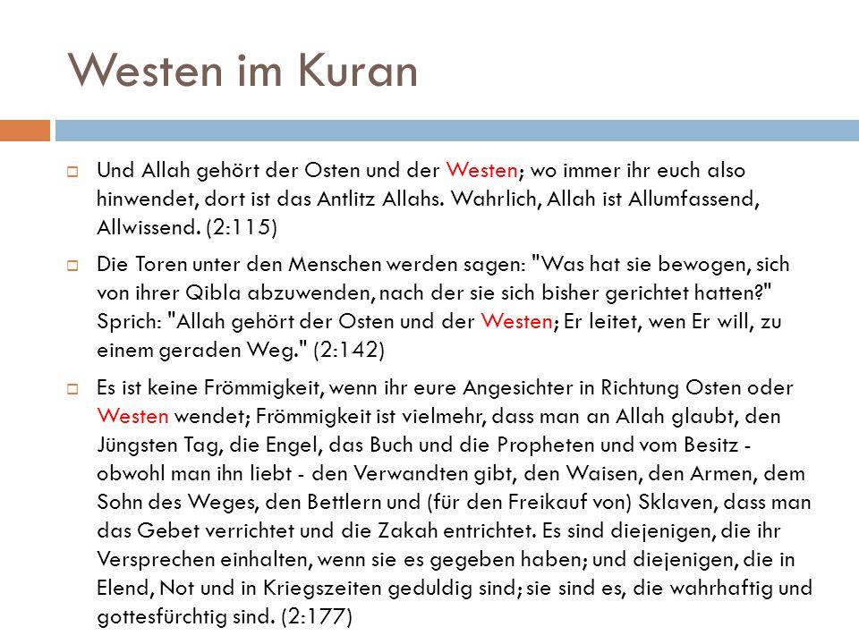 Westen im Kuran