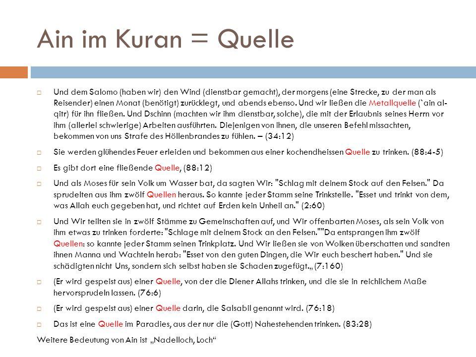 Ain im Kuran = Quelle
