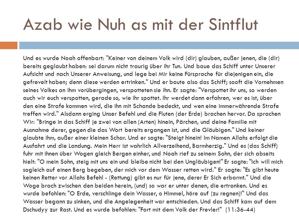 Azab wie Nuh as mit der Sintflut
