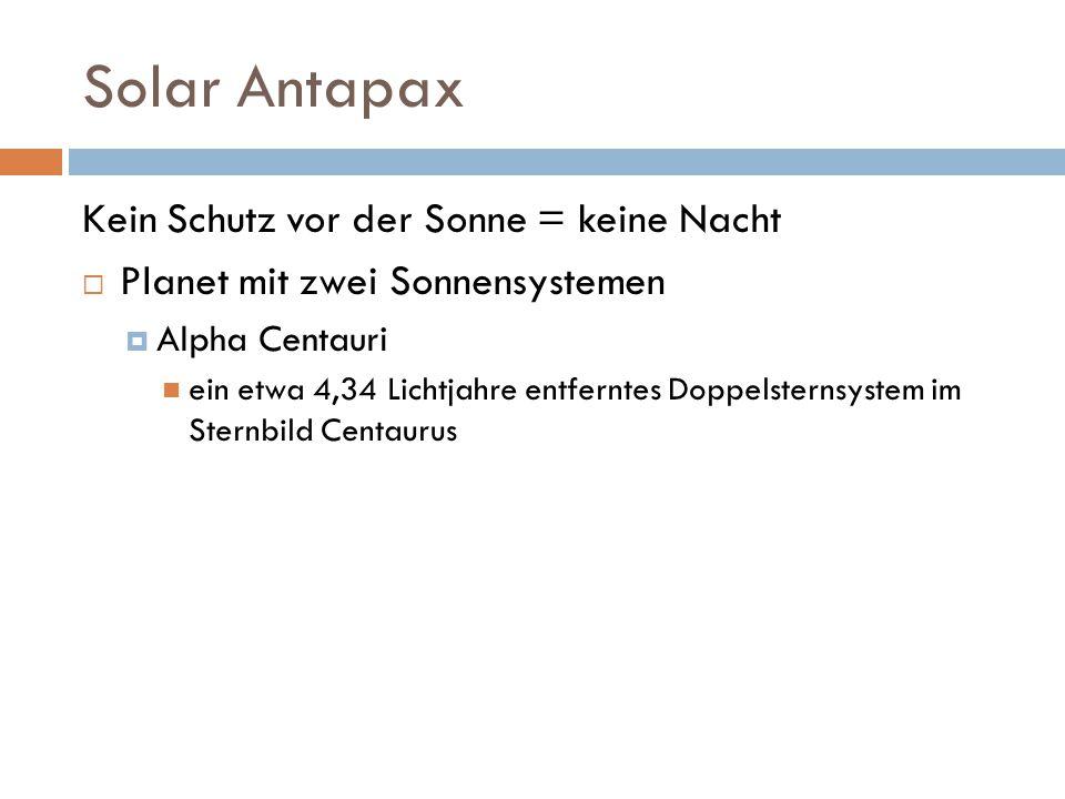 Solar Antapax Kein Schutz vor der Sonne = keine Nacht