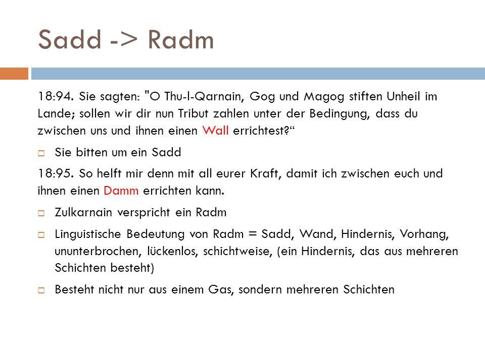 Sadd -> Radm