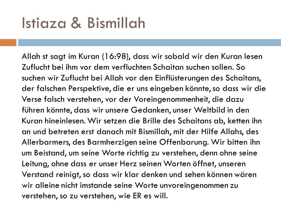Istiaza & Bismillah