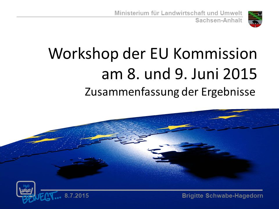 Workshop der EU Kommission am 8. und 9. Juni 2015