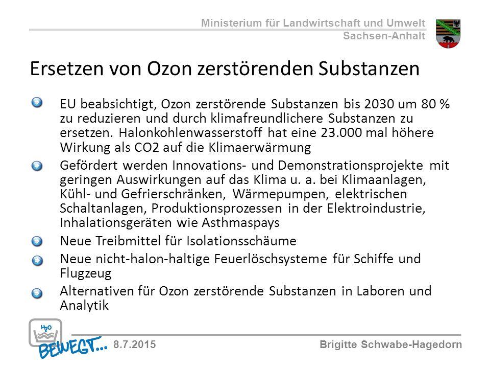 Ersetzen von Ozon zerstörenden Substanzen