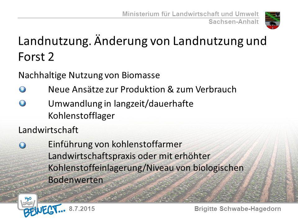Landnutzung. Änderung von Landnutzung und Forst 2