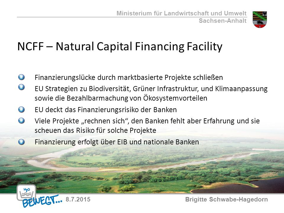 NCFF – Natural Capital Financing Facility