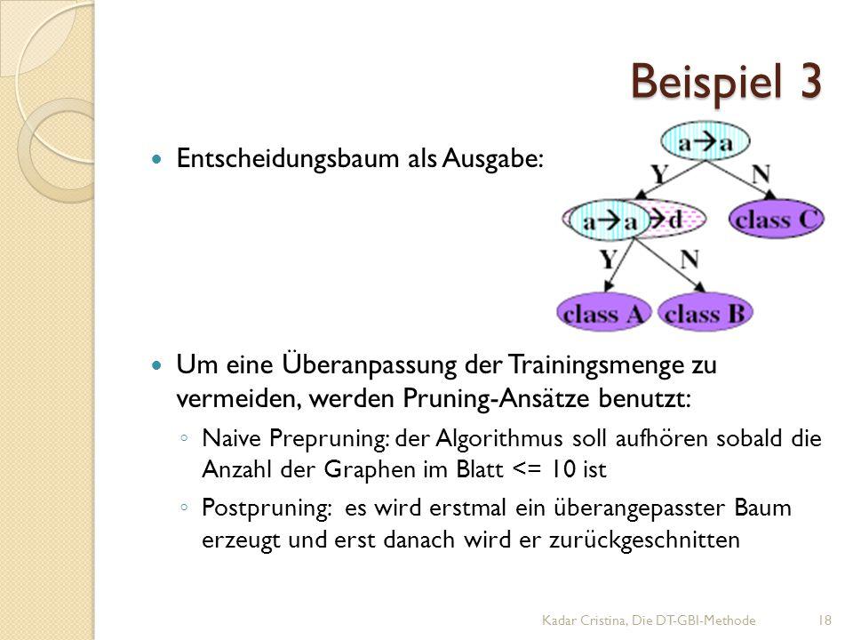 Beispiel 3 Entscheidungsbaum als Ausgabe: