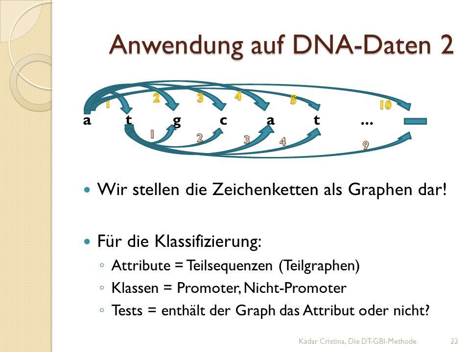 Anwendung auf DNA-Daten 2