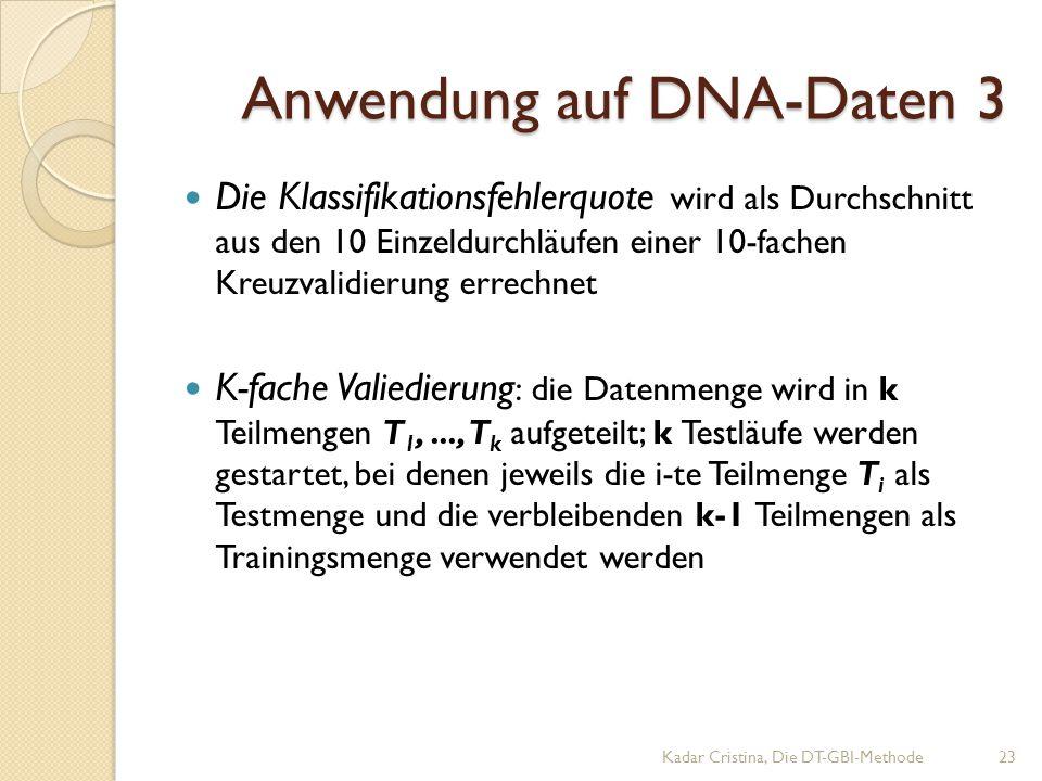 Anwendung auf DNA-Daten 3