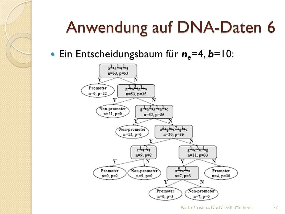 Anwendung auf DNA-Daten 6