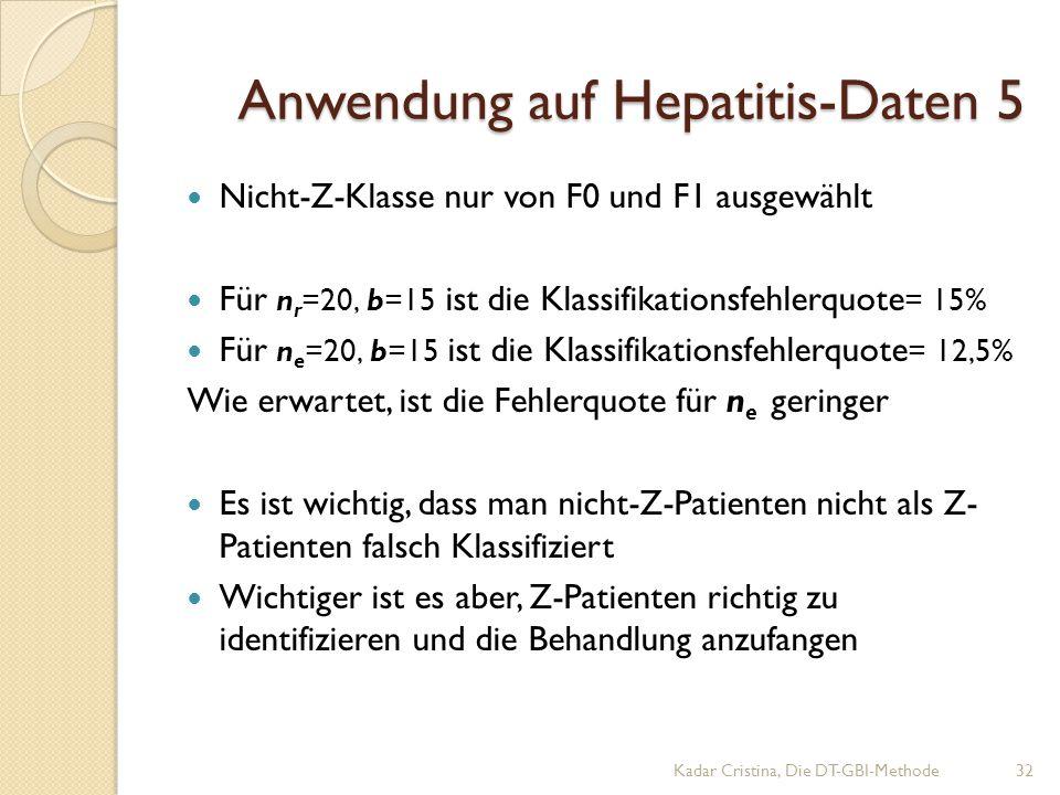 Anwendung auf Hepatitis-Daten 5