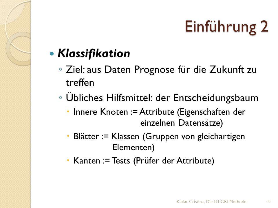 Einführung 2 Klassifikation