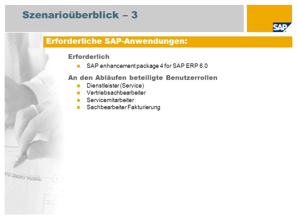 Szenarioüberblick – 3 Erforderliche SAP-Anwendungen: Erforderlich