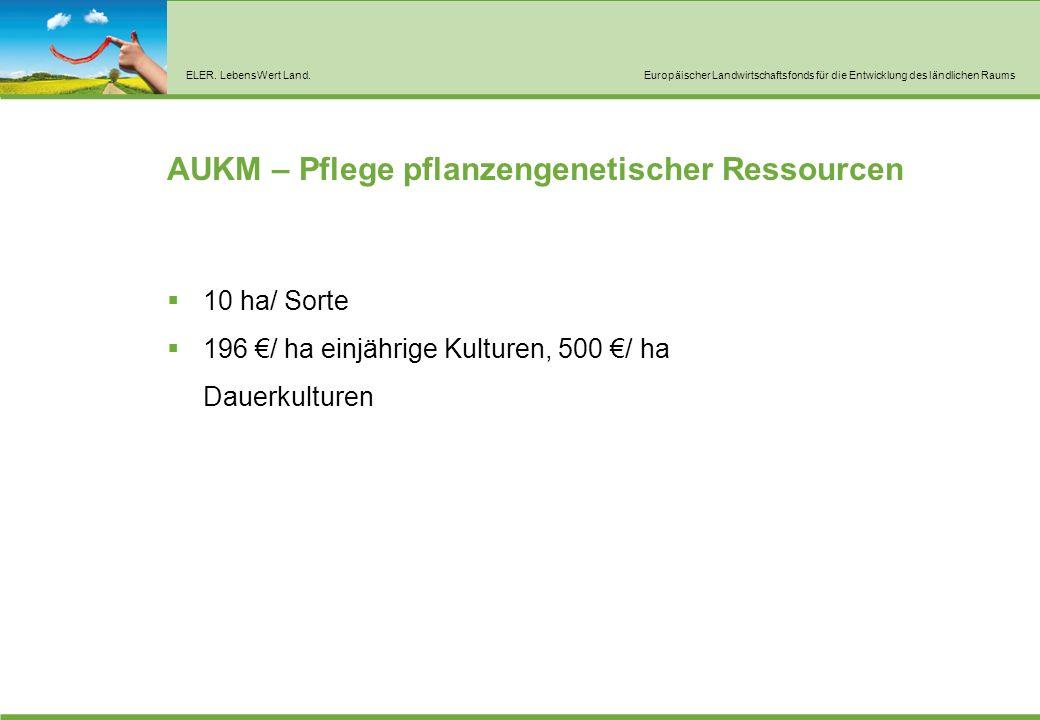 AUKM – Erhalt tiergenetischer Ressourcen