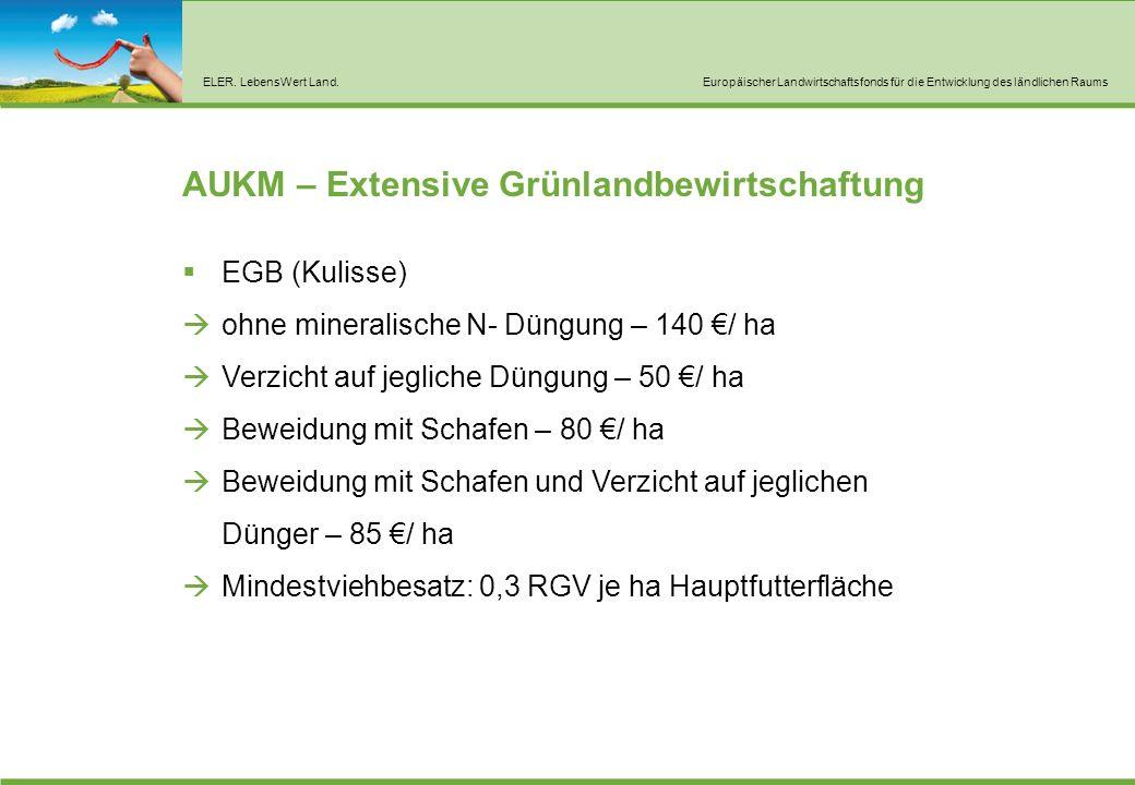 AUKM – Extensive Grünlandbewirtschaftung