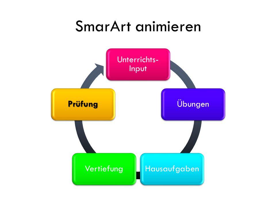 SmarArt animieren Unterrichts-Input Übungen Hausaufgaben Vertiefung