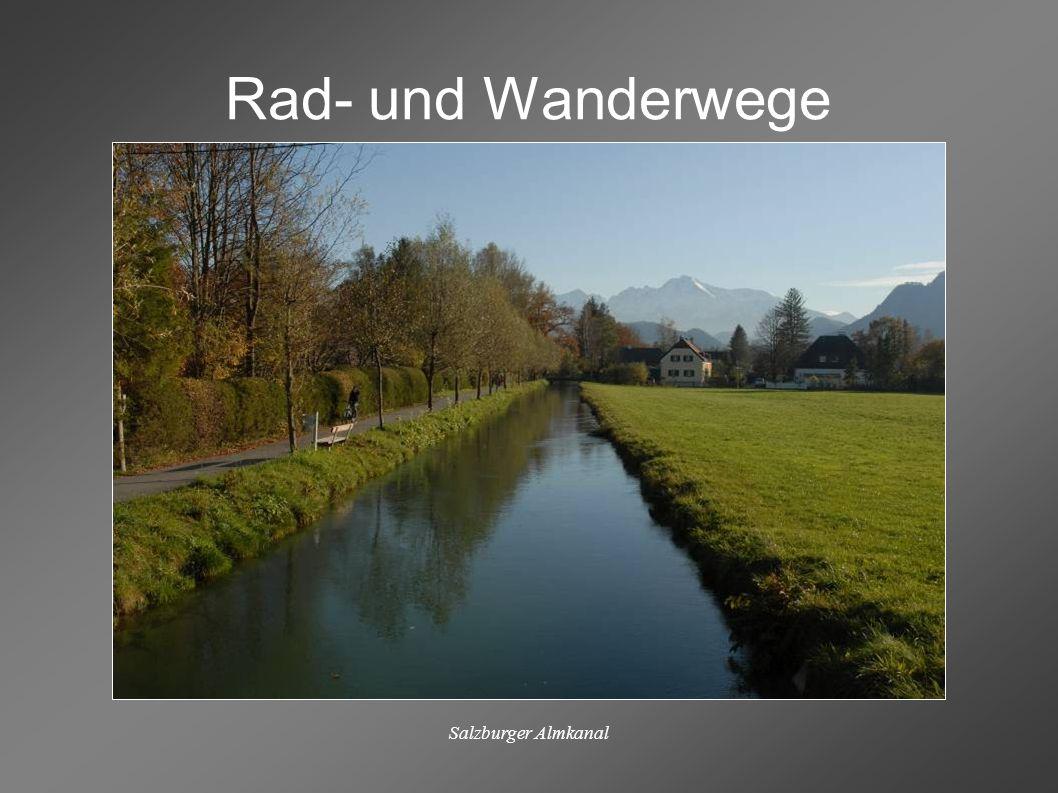 Rad- und Wanderwege Salzburger Almkanal