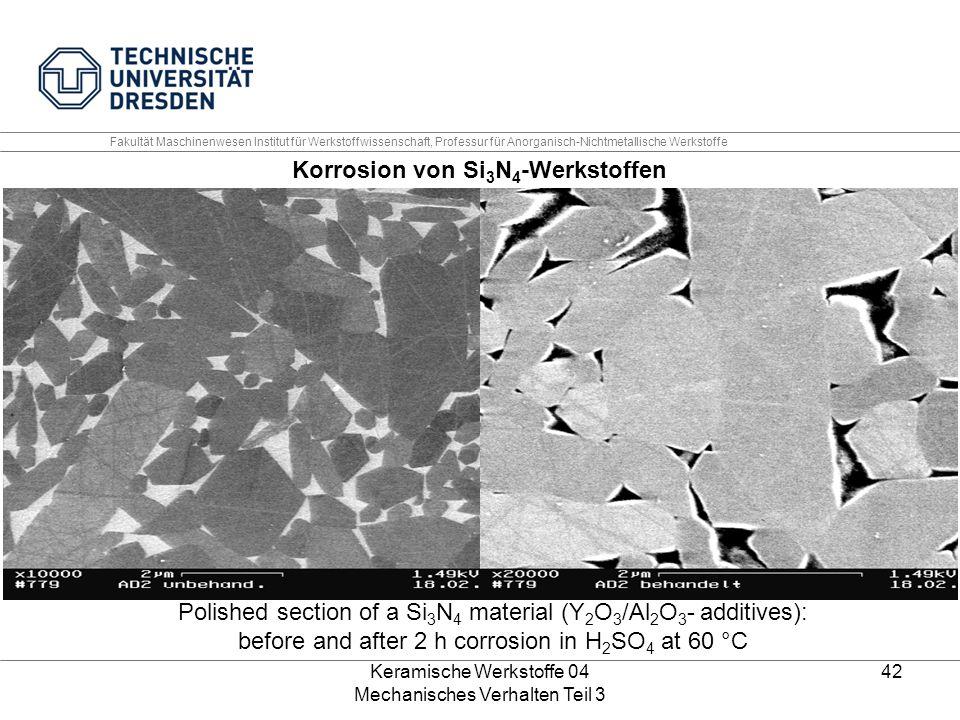 Korrosion von Si3N4-Werkstoffen