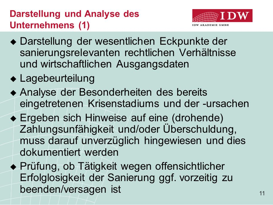 Darstellung und Analyse des Unternehmens (1)