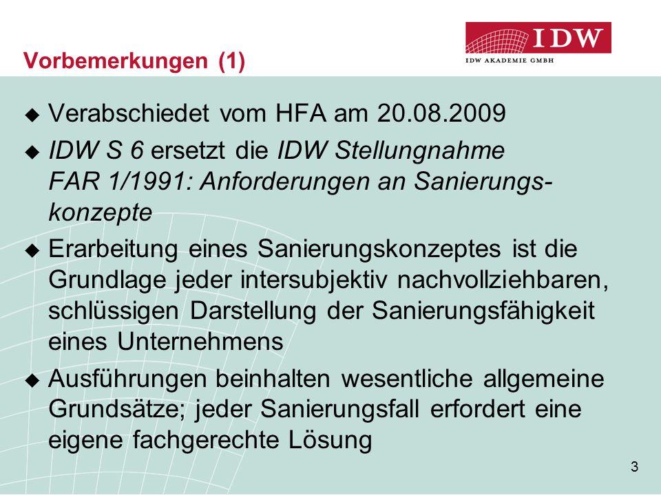 Verabschiedet vom HFA am 20.08.2009