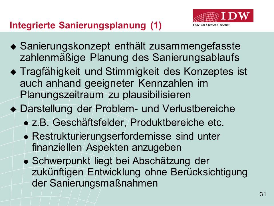 Integrierte Sanierungsplanung (1)