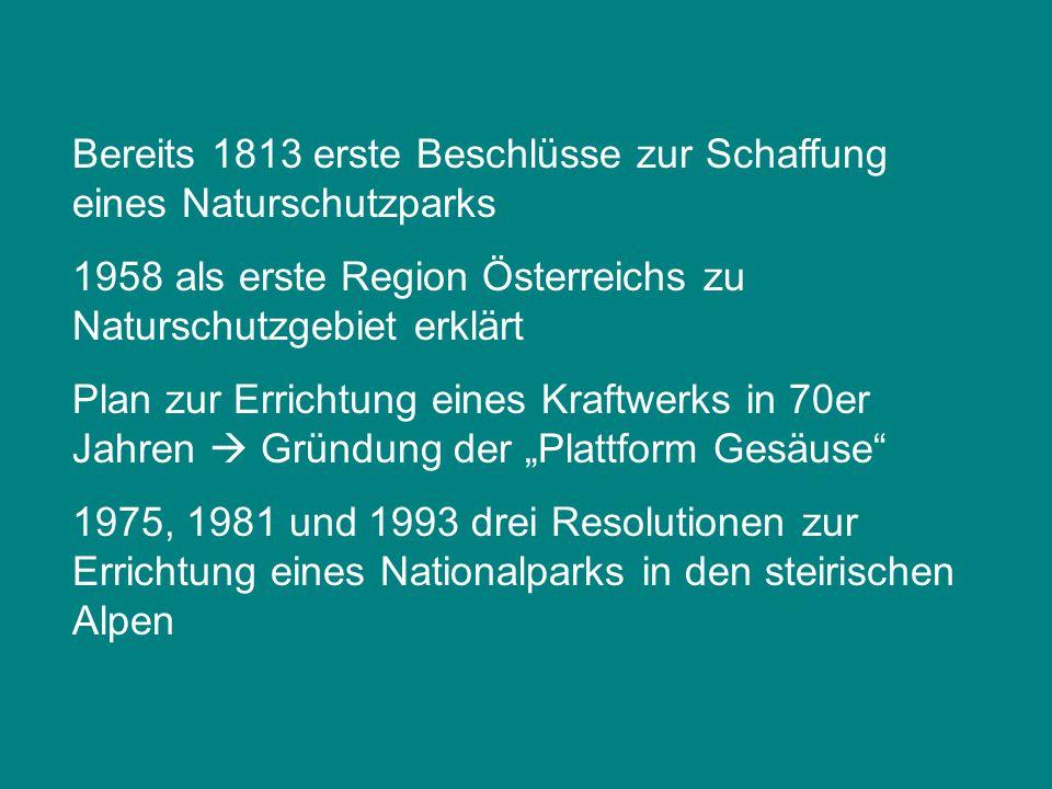 Bereits 1813 erste Beschlüsse zur Schaffung eines Naturschutzparks