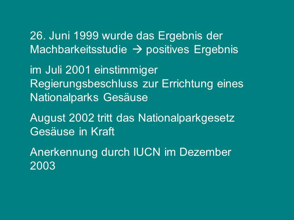 26. Juni 1999 wurde das Ergebnis der Machbarkeitsstudie  positives Ergebnis